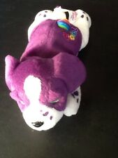 Lisa Frank Bean Buddies Velvet Purple Puppy Dog Plush