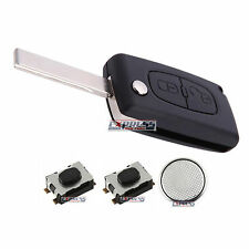 Peugeot 3008 5008 807 Expert 2 Button Remote Flip Key Fob Case Repair Kit