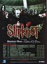 SLIPKNOT Full Page Magazine Advert 2008 UK Tour All Hope Is Gone Machine Head