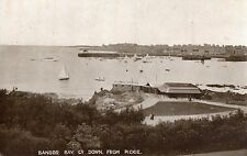 BANGOR BAY CO. DOWN FROM PICKIE IRELAND POSTCARD by HURST & Co  POSTED JULY 1924