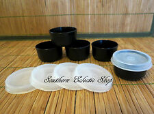 Tupperware Smidgets Set of 5, Black 1 Ounce Containers Pill Box Lunch Condiments
