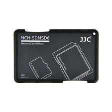JJC MCH-SDMSD6GR Credit Card Size Memory Card Holder for 2x SD &4x Micro SD card