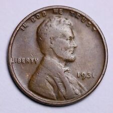 1931 Lincoln Wheat Cent Penny LOWEST PRICES ON THE BAY!  FREE SHIPPING!