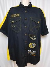 COOGI Men's Embroidered World Class 1969 Australia 2XL XXL Black Yellow Shirt