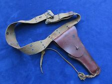 ORIGINAL WW2 US COLT 1911 LEATHER HOLSTER MADE BY BOYT 1944 AND BELT