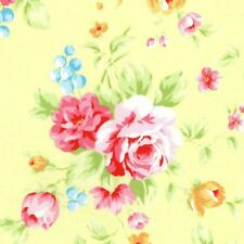 Cottage Shabby Chic Lecien Antique Flower Yellow Rose Bouquet 31420L-50 BTY
