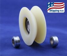 2.4 Inch Nylon Pulley with Vee Groove, and 2 x 1/2 Inch Bore Spacers- USA