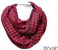 Houndstooth Infinity Scarf (Red/Black)