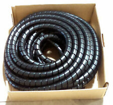 .811 ID Black HDPE Spiral Hose Wrap (hydraulic hose, cables & more) 10' section