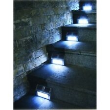 6 Solar Powered Steel LED Lights Pathway Path Step Stair Wall Garden Yard Lamps