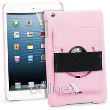 Funda Piel para iPad 2, 3, 4, 10.1 con Soporte Rotatorio Rosa a749