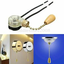 Convenient Ceiling Fan Light Wall light Lamp Replacement Pull Chain Switch New