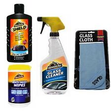 ARMORALL GLASS SHIELD + ANTI MIST FOG WIPES + CLEANER SPRAY + MICROFIBRE CLOTH