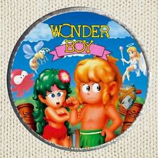 Wonder Boy Patch Picture Embroidered Border Poster Videogame Sega Arcade Axe