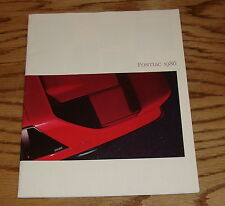 Original 1986 Pontiac Full Line Sales Brochure 86 Firebird Fiero Grand Prix