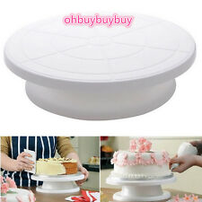 "11"" Rotating Revolving Cake Sugarcraft Turntable Decorating Stand Platform USA Y"