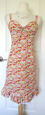 Nanette Lepore Floral Spaghetti Straps Shift Dress~Sz 10~ Cute & Stylish~