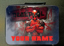 Personalised Custom  Unofficial Deadpool Insulated Lunch Bag 24CM X 18CM Black