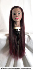 """28"""" Recurlable Human Hair Mix Blend Cosmetology Mannequin Head & FREE CLAMP (L)"""