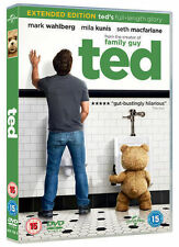 TED EXTENDED EDITION MARK WAHLBERG MILA KUNIS UNIVERSAL UK DVD & UV NEW SEALED
