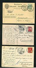 Schweiz - 3 Karten in die Türkei mit Zensur. 1907 - 1918  (#900)