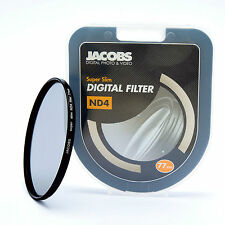 Jacobs ND4 Super slim Neutral Density filter 77mm for nikon canon sony   NEW PRO