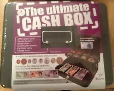 2x Ultimate Large Cash Money Box With 2 Keys ,Safe Tin Cathedral 12 inch
