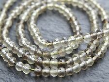 "2.7mm MICRO FACETED BIO LEMON QUARTZ RONDELLES, 13"", 150 beads"
