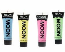 Moon Glow Pastel Neon UV Face & Body Paint Festival Rave Party Set of 4 x 12ml