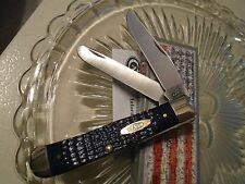 Case American Workman Synthetic Navy Blue Trapper Pocket Knife 13000 6254SS