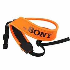 Orange Camera Neoprene Neck Shoulder Strap Belt For Sony DSLR SLR Soft Padding