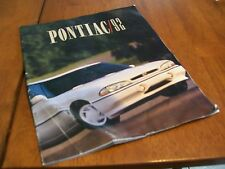 PONTIAC 1992 SALES BROCHURE
