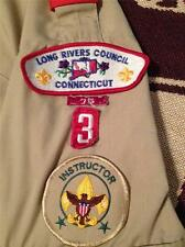LONG RIVERS CONNECTICUTT COUNCIL 3 INSTRUCTOR SHORT SLEEVE LARGE BOY SCOUT SHIRT