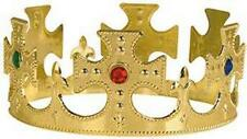 2 KING CROWN WITH CROSSES novelty party hat men crowns headwear dressup costumes