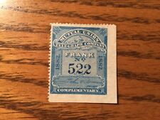 UNCATALOGUED 1882 Mutual Union Telegraph Company Frank Deep Back of Book Stamp