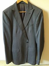$850 Ermenegildo Zegna Suit Jacket Wool 40 Euro 50 Peak Lapels Dark Grey boss