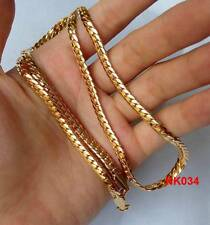 New 1pcs FL 18K Yellow Gold Plated 4mm Cuban Men's Link Chain Necklace 22""