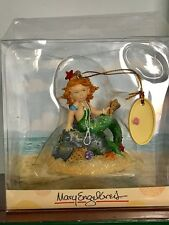 New Mary Engelbreit Mermaid at the Beach with Seashells Resin  Ornament cs85583