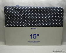 15'' BAGGU MacBook Pro Cushioned Sleeve Protector Carrying Laptop Case Navy Blue