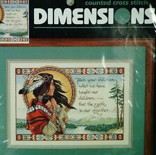 Dimensions Kit Southwestern Earth Is Our Mother Counted Cross Stitch Sealed