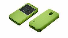 Slim Screen Flip *GREEN* Leather Case Cover for Samsung Galaxy S5 i9600 SM-G900