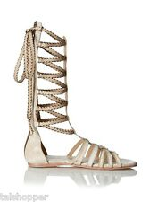 NEW 6 Australia Luxe Collective Marcos Boho Lace Up Gladiator Sandals Flat Shoes