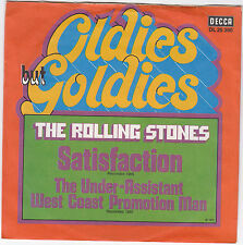 "Single 7"" - The Rolling Stones ""Satisfaction/The under-assistant west coast ..."""