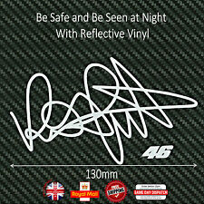 Valentino Rossi 46 Signature Helmet Sticker Decals Reflective Vinyl 130mm F207