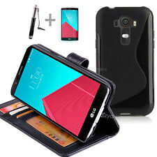 BLACK Wallet 4in1 Accessory Bundle Kit S TPU Case Cover For LG G4 4G