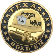 "UNIQUE POKER CARD GUARD 24K VERGOLDET ""Poker is War"""