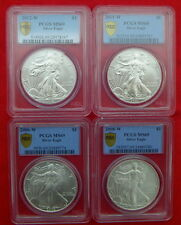 4 W SILVER AMERICAN EAGLE $1 PCGS MS69 SECURE PLUS set  2006 2008 2011 2012