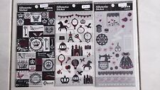 DIY clear felt stickers crown princess sewing ribbons patch  2 pcs free postage