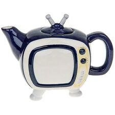 Retro Teapot TV Ceramic Ornament Mothers Day Birthday unusual Novelty Gift