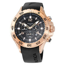 Nautica Men's Black and Rose Gold Tone Chronograph Watch N18523G